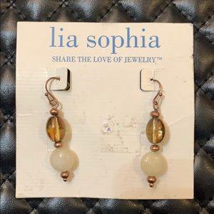 🆕Lia Sophia Antiqued Metal Glass Beaded Earrings